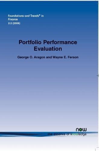 Portfolio Performance Evaluation: Wayne E. Ferson