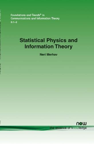 9781601984067: Statistical Physics and Information Theory (Foundations and Trends(r) in Communications and Information)