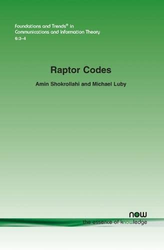 9781601984463: Raptor Codes (Foundations and Trends(r) in Communications and Information)