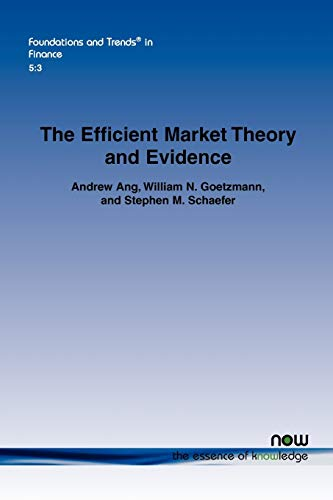 9781601984685: The Efficient Market Theory and Evidence: Implications for Active Investment Management (Foundations and Trends(r) in Finance)
