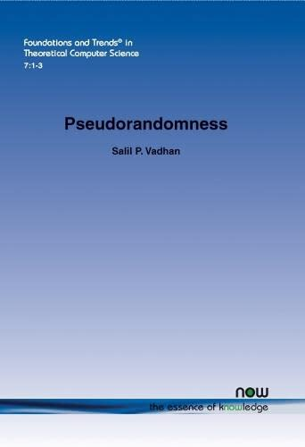 9781601985941: Pseudorandomness (Foundations and Trends in Theoretical Computer Science)