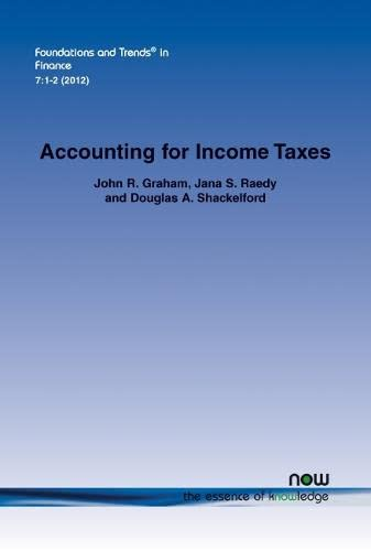 Accounting for Income Taxes: Primer, Extant Research, and Future Directions: John R. Graham