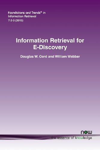 Information Retrieval for E-Discovery: William Lloyd Webber