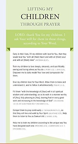 Lifting My Children Through Prayer Cards (NEW): Family Life