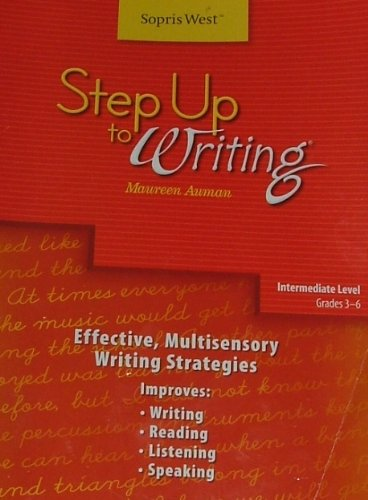 9781602181656: Step Up to Writing Intermediate Level: Effective, Multisensory Writing Strategies Teacher's Manual Grades 3-6
