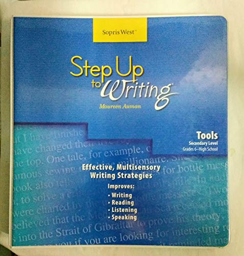 9781602181717: Step Up to Writing: Tools, Secondary Level Grades 6- High School (Third Edition)