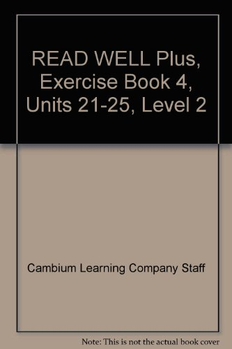 9781602185630: READ WELL Plus, Exercise Book 4, Units 21-25, Level 2