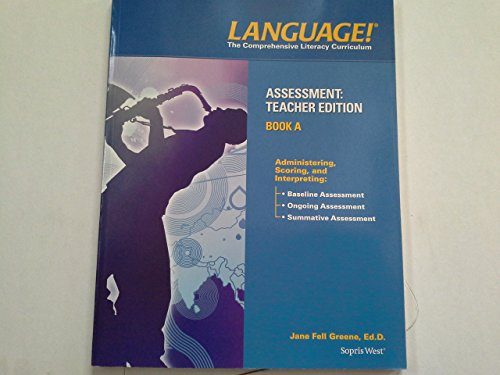 9781602186668: Language! The Comprehensive Literacy Curriculum, Placement Language reading Scale Teacher Edition