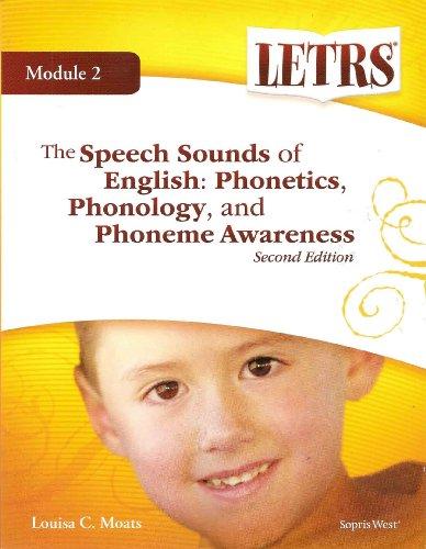 The Speech Sounds of English: Phonetics, Phonology,: Moats, Louisa C