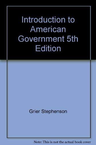 9781602293922: INTRO.TO AMERICAN GOVERNMENT:S