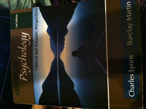 Abnormal Psychology: Charles Lyons; Barclay Martin