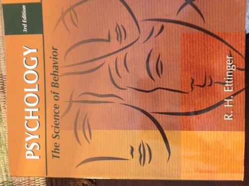 Psychology The Science of Behavior: R. H. Ettinger