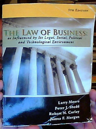 9781602297685: The Law of Business as Influenced by Its Legal, Social, Political and Technological Environment 5th Edition