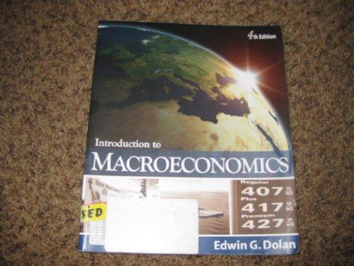 Introduction to Macroeconomics: Edwin G. Dolan