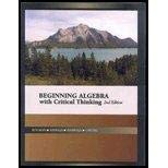 Beginning Algebra with Critical Thinking [Paperback]