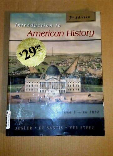9781602299924: Introduction to American History, Vol. 1, 7th Edition