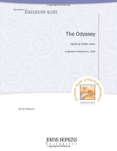 9781602402058: Teacher's Discussion Guide to The Odyssey (retold by Robin Lister)