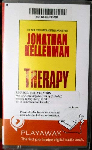 Therapy: Library Edition (9781602525443) by Jonathan Kellerman