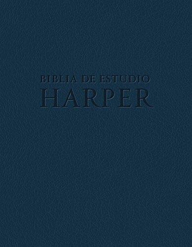 9781602558489: Biblia de estudio Harper: Azul con indice (Spanish Edition)