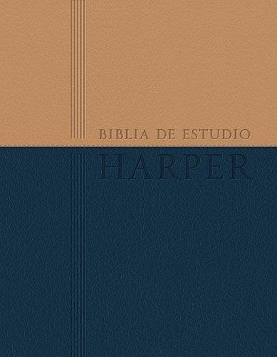 9781602558496: Biblia de estudio Harper: Duo tono con índice (Spanish Edition)