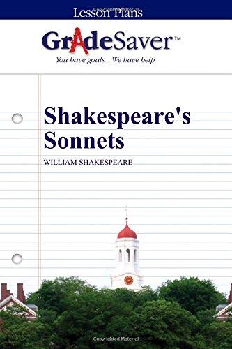 GradeSaver (TM) Lesson Plans: Shakespeare's Sonnets: Fiona Zublin