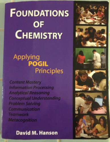 9781602635012: Foundations of Chemistry (Applying POGIL Principles) - 3rd (Third) Edition