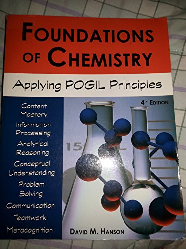 Foundations of Chemistry : Applying POGIL Principles: David Hanson