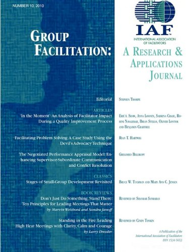 9781602646858: Group Facilitation: A Research and Applications Journal Volume 10