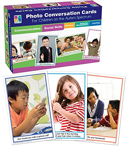 9781602681309: Photo Conversation Cards for Children with Autism and Asperger's