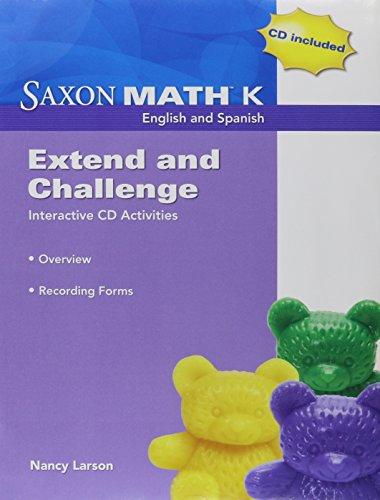 9781602770164: Saxon Math K: Extend & Challenge CD Kit