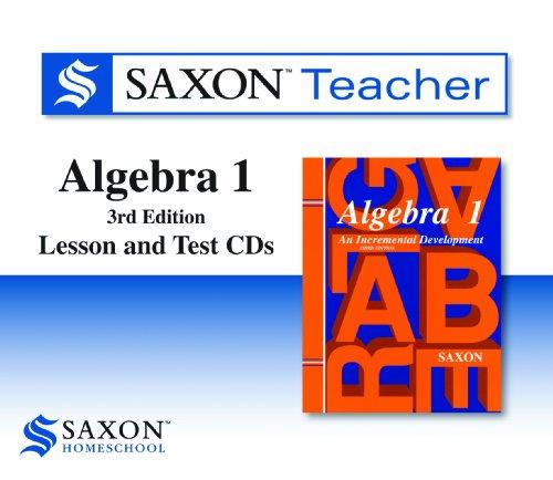 9781602773653: Saxon Algebra 1: Homeschool Teacher CD-ROM Package Third Edition 2008