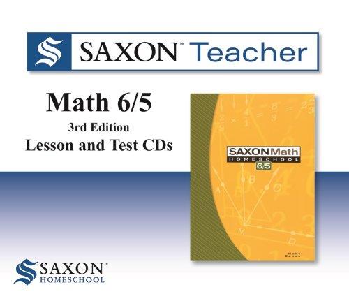 9781602773882: Saxon Math 6/5 Homeschool: Saxon Teacher CD ROM 3rd Edition