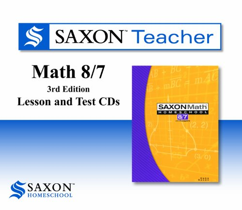 9781602773905: Saxon Teacher for Math 8/7, 3rd Edition