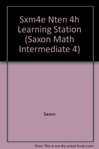 Sxm4e Nten 4h Learning Station (Saxon Math: Saxon