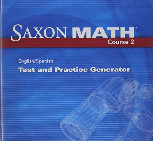 9781602774612: Saxon Math Course 2: Test & Practice Generator CD-ROM with Examview