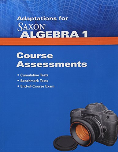 9781602774810: Saxon Algebra 1: Assessments Adaptation