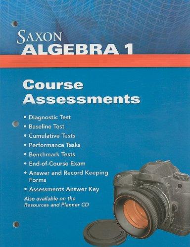 9781602774841: Saxon Algebra 1: Assessments
