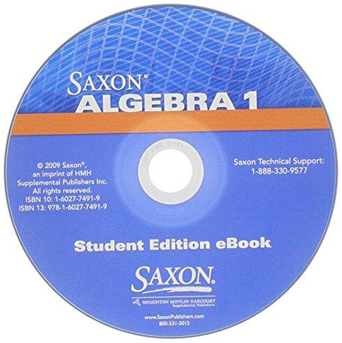 Saxon Algebra 1: Student Edition Ebook Cd: Saxon Publishers