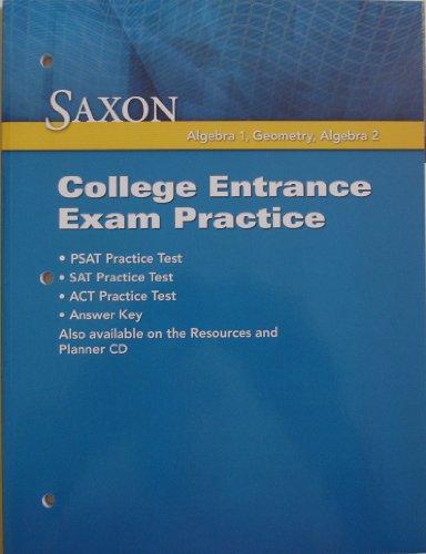 HS Math 4e Nlen Clg Entrance Exam: Saxon