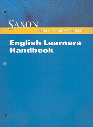 Saxon Math: ELL Handbook 2009: SAXON PUBLISHERS