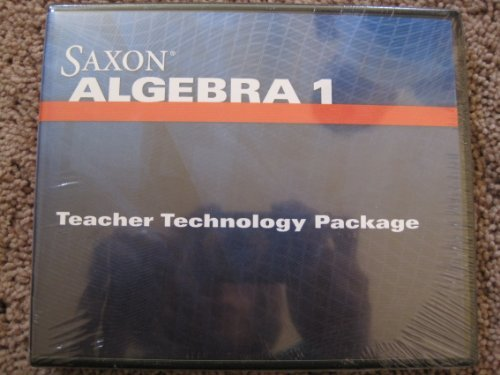 9781602776159: Saxon Algebra 1: Teacher Technology Package