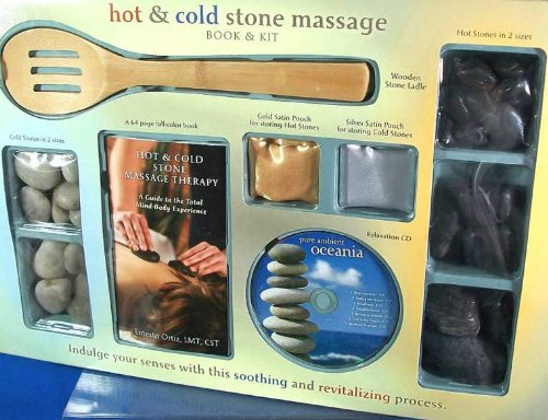 9781603111942: Hot & Cold Stone Massage Book & Kit with CD