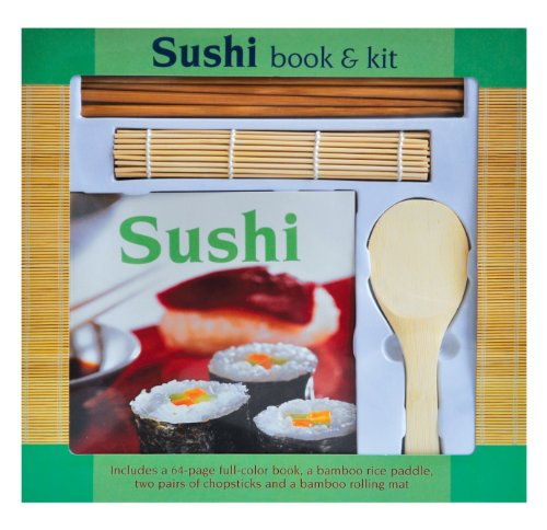 9781603112666: Sushi Book & Preparation Instruction Kit on How You Can Make Great Sushi At Home!! Includes 80 Full Color Step By Step Book, Chopsticks, Bamboo Rice Paddle and Mat