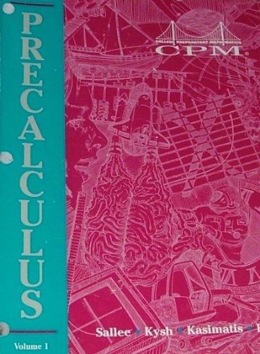 9781603280044: Pre-Calculus with Trigonometry : Volume 1