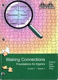 9781603280334: CPM Making Connections Foundations for Algebra Course 1 Volume 1