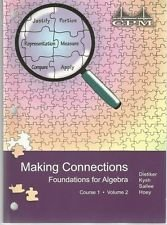 9781603280341: CPM Making Connections Foundations for Algebra Course 1 Volume 2