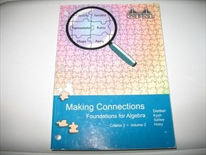 9781603280396: Making Connections: Foundations for Algebra Course 2 Volume 2