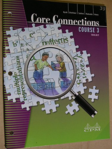 9781603280969: Core Connections: Course 3 Foundations for Algebra Toolkit