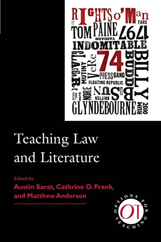 9781603290937: Teaching Law and Literature (Options for Teaching)