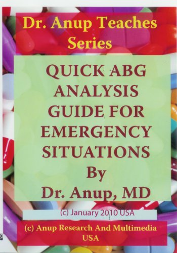 9781603350822: Quick Arterial Blood Gas ABG Analysis guide for Emergency Room and Intensive Care Units (ICU) DVD. Includes ABG Card and Book